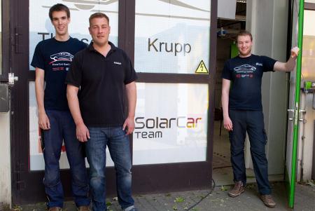 Wagener Mitarbeiter beim Solar-Car Team