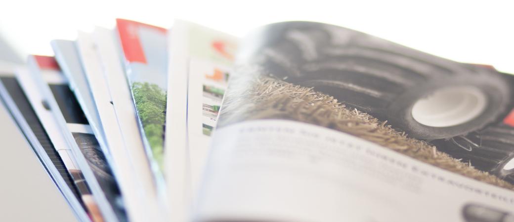Aufgefächerte Fachmagazine