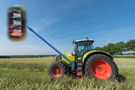 GRIFAsoftstep am Claas Schlepper