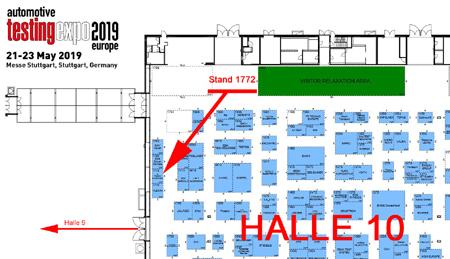 Hallenplan testingexpo 2019