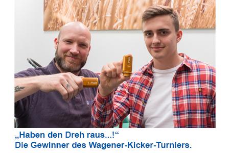 Gewinner des Wagener Kickerturniers