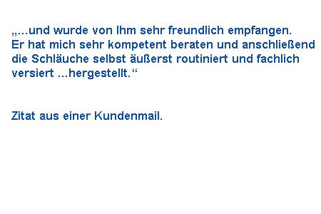 Zitat aus einer Kunden E-Mail