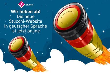 Ankündigung der deutschen Version der Stucchi Webseite