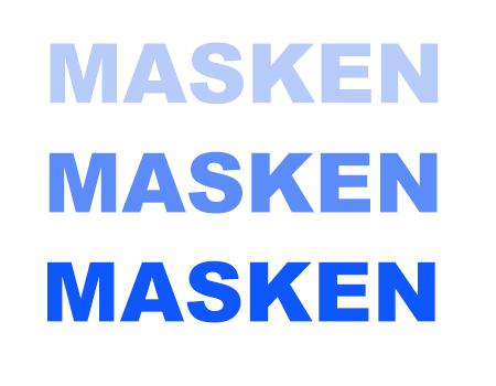 Masken Schriftzug