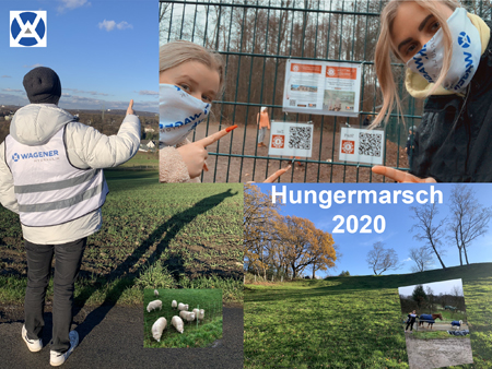 Collage aus Bildern vom Hungermarsch